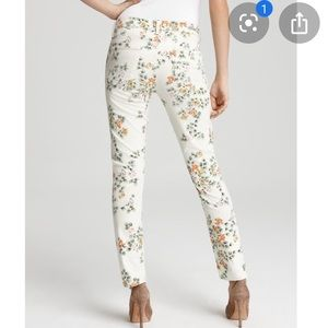 Citizens of Humanity floral Mandy High Waisted